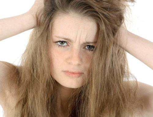 feuchtigkeitsarmes Haar