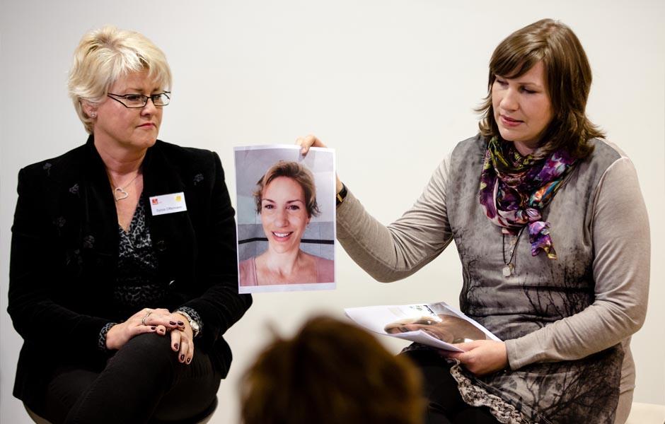 DKMS Life-Vortrag einer Betroffenen Brustkrebspatientin